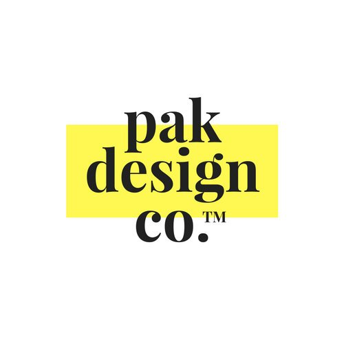 Black and Yellow Typographic Art & Design Logo