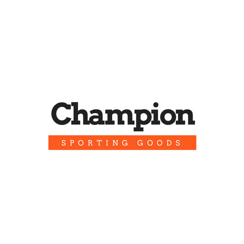 Black and Orange Simple Sports Logo