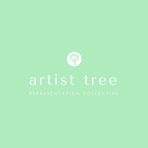 Simple Green Tree Art & Design Logo