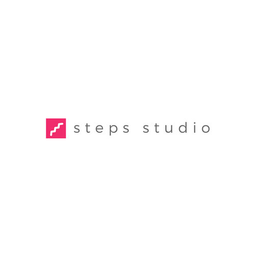 Pink Stair Icon Art & Design Logo