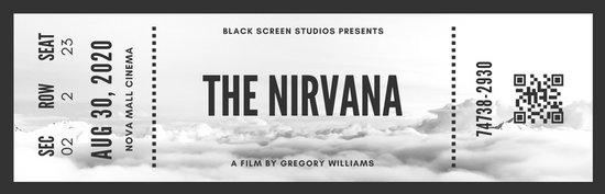 black and white vintage movie ticket