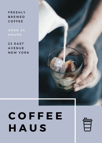 gray off the grid artisan cafe modern flyer