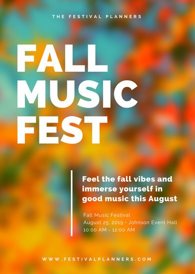 fall festival flyers templates