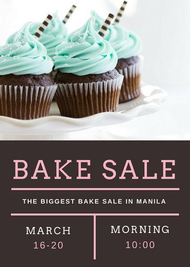 cupcake sale flyer