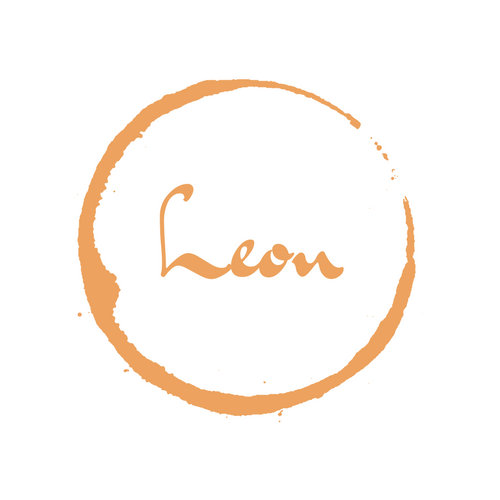White and Orange Simple Leon Fine Dining Food Logo