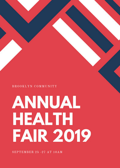 Indian Red Lines Health Fair Flyer Templates By Canva