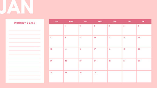 Pastel  Monthly Calendar  Templates By Canva