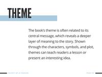 Blue and White Book Report Presentation