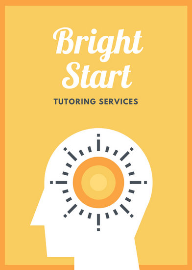Orange And Yellow Bright Mind Icon Tutoring Flyer Templates By Canva