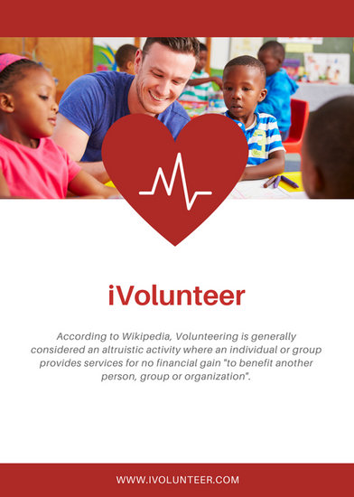 White And Red Heart Volunteer Flyer Templates By Canva