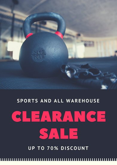 black sports sale flyer