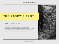 Charcoal and Yellow Modern Masculine Thriller Book Report Presentation