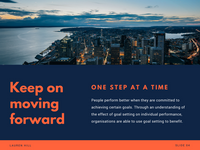 Orange Navy Photo Modern Goal Setting Presentation