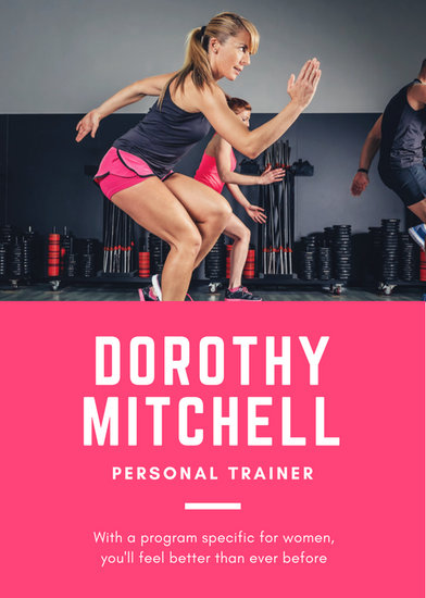 personal training flyers templates