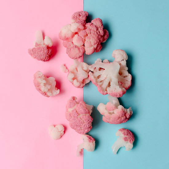 Pink Cauliflower Minimalist Art Style