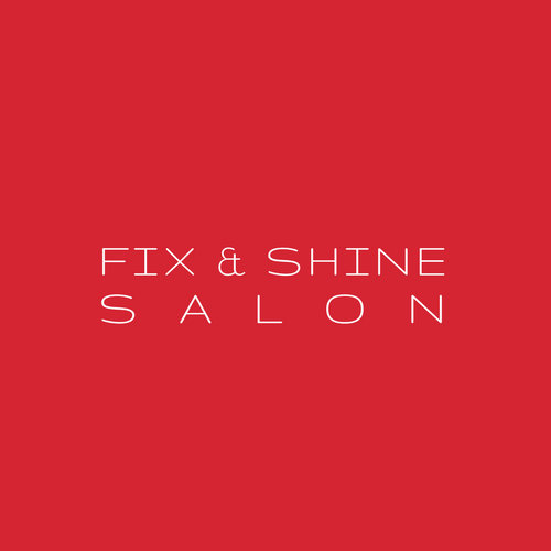 Red and White Simple Salon Beauty Logo