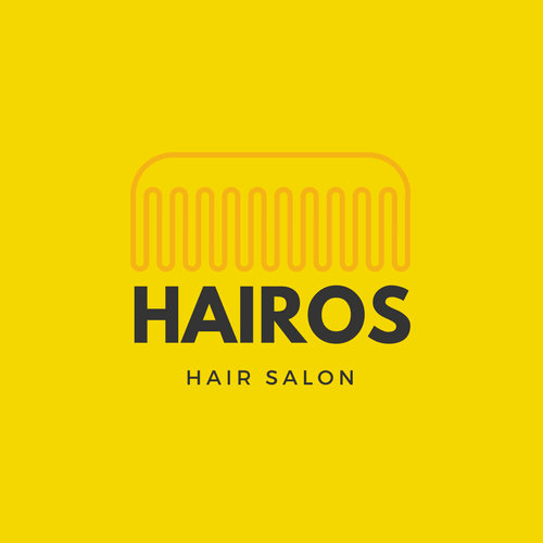 Yellow Comb Salon Beauty Logo
