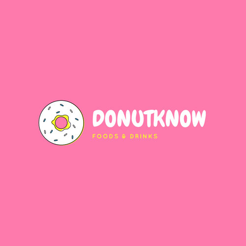 Pink Donut Business Logo