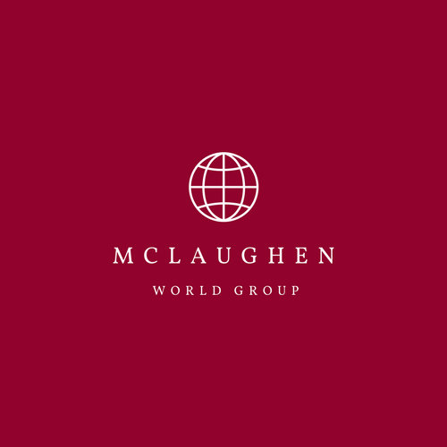 Maroon Globe Icon Business Logo