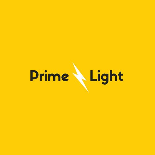 Yellow Lightning Icon Business Logo