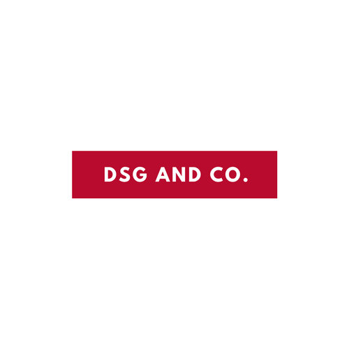 White and Red Rectangle Business Logo