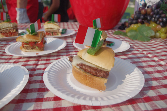 Bbq, Cookout, Burger, Italian, Red, White, Checker