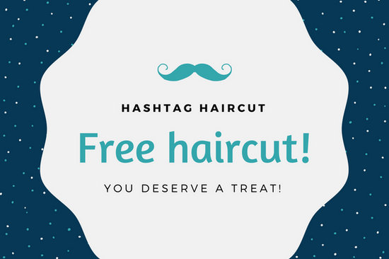 Navy blue and teal dots and mustache haircut gift card templates navy blue and teal dots and mustache haircut gift card yadclub Gallery