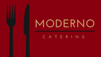 Red Utensils Moderno Catering Business Card