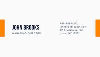 Blue Orange Corporate Company Business Card
