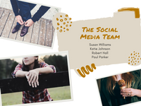 White Brown Social Media Strategy Presentation