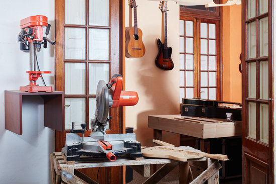 Traditional Luthier Workshop Interiors