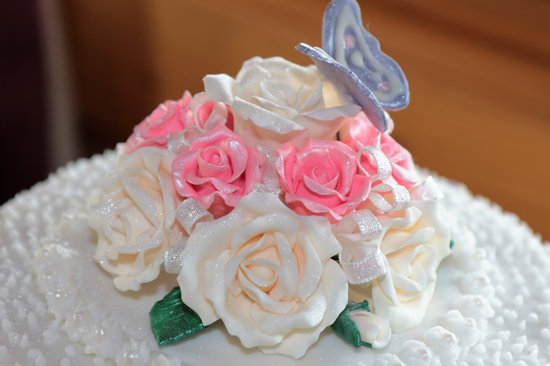 Sugar Craft, Sugar Icing, Roses, Homemade, Cake
