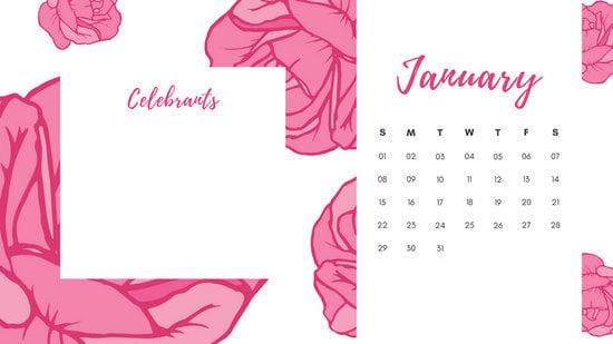 cute girly illustrations birthday calendar
