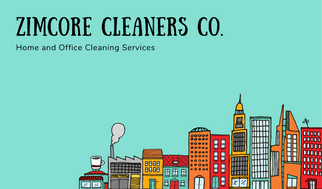 Illustrated Cleaning Service Business Card