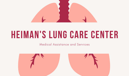 Coral Lung Center Medical Business Card