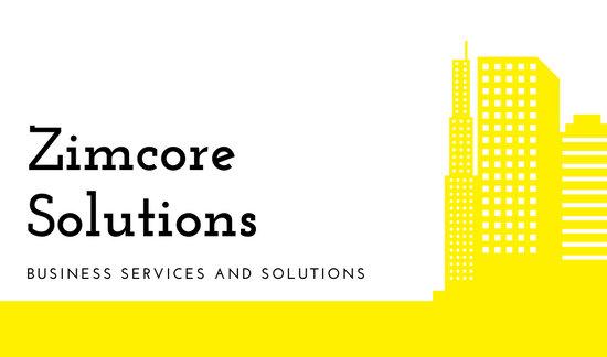 Yellow Skyscraper Business Corporate Business Card