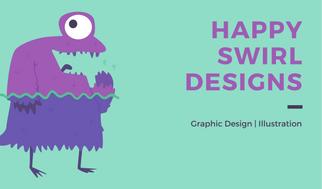Mint Graphic Designer Business Card