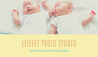 Colorful Kids Photographer Business Card