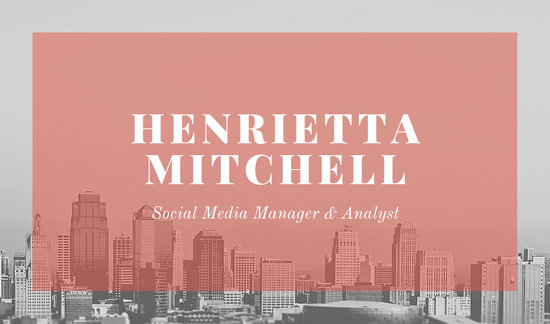 Pink Modern Professional Business Card