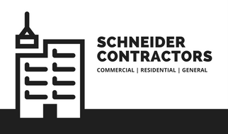 Black and White Building Contractor Business Card