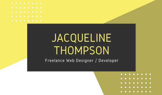 Yellow Modern Web Designer Business Card