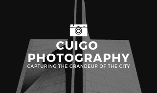 Monochrome Building Photographic Business Card