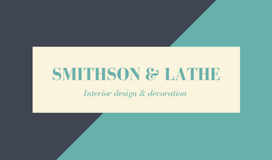 Turquoise Grey Modern Lawyer Business Card