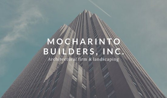 White Modern Building Photographic Business Card