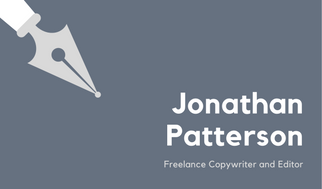 Slate Grey Pen Simple Writer Business Card