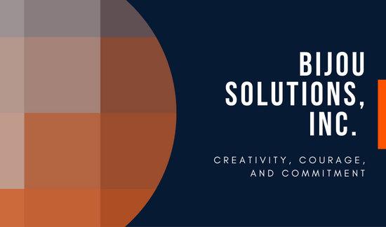 Blue Orange Yellow Corporate Company Geometric Business Card