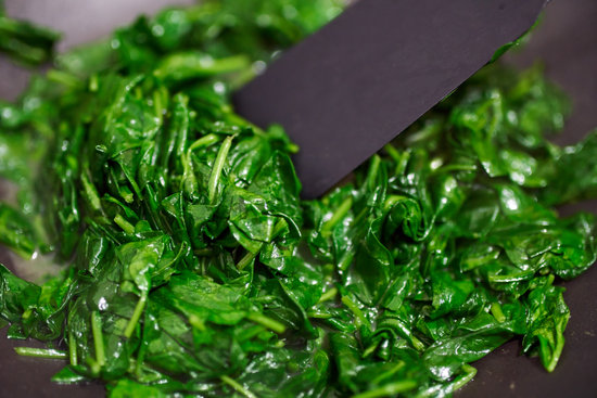 Baby Spinach Cooked in the Pan
