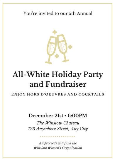 all white party invitation