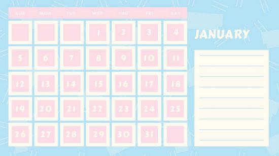 Calendar Design Tumblr : Pastel blue and pink line pattern classroom calendar