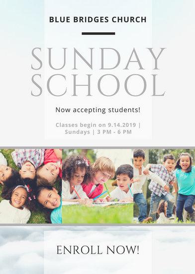 sunday school flyer